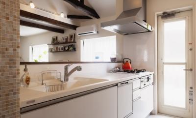 SE邸・実家の2階が大変身 大好きなインテリアで楽しく住もう (キッチン)