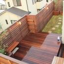 グリーンラッシュ/岩田充弘の住宅事例「ウッドフェンスでプライバシーを確保した屋上庭園」