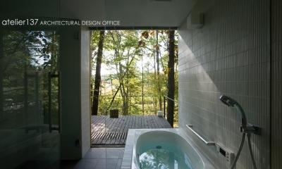 010軽井沢Tさんの家 (浴室)