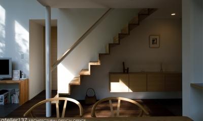 010軽井沢Tさんの家 (階段)