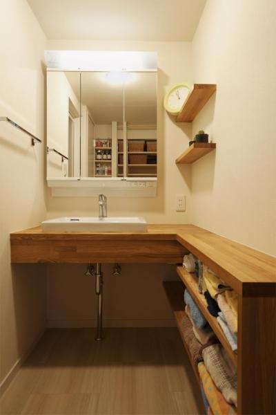 洗面脱衣所 (T邸・休日はおうちカフェで・・・)