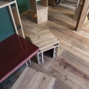 自転車店舗 床と家具