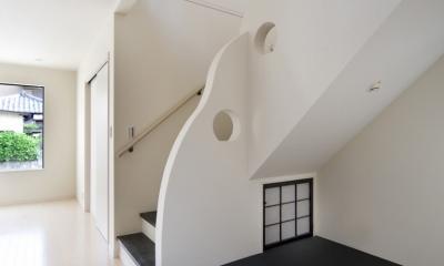 センターコートのある家 (階段室)