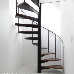 019軽井沢Mさんの家 (らせん階段)