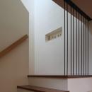 光の落ちる階段、踊り場にニッチ