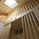 2階ホールより見上げる