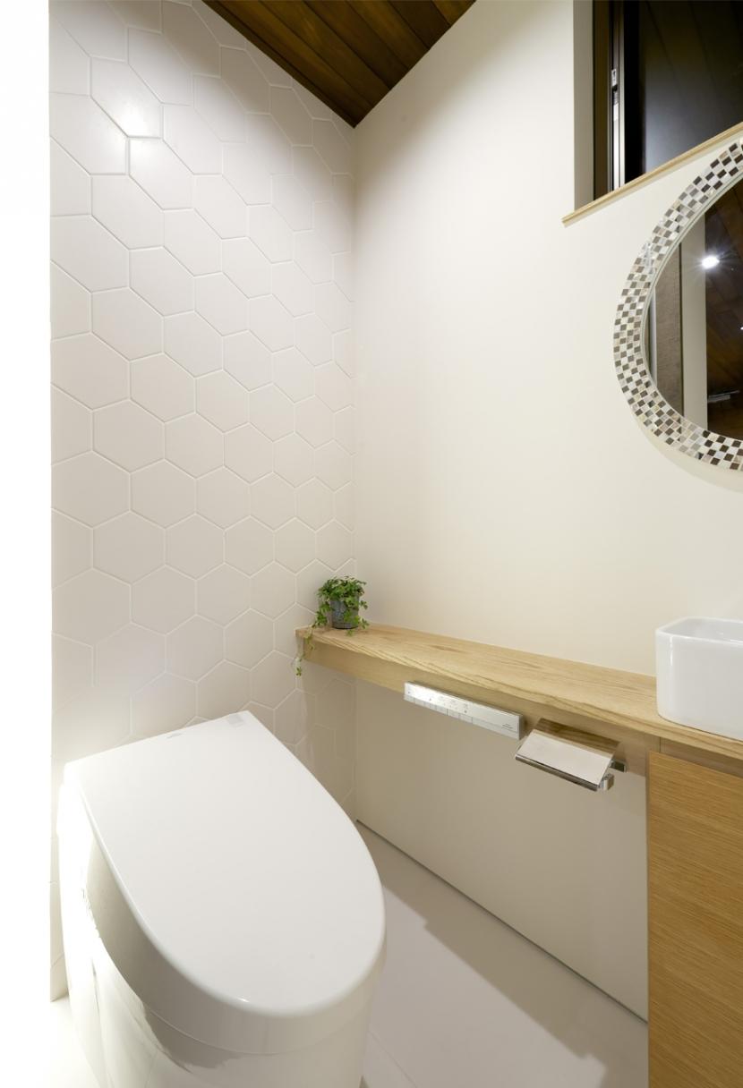 江南の家(プライベートテラスと蔵のある家)の部屋 トイレ