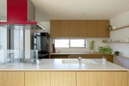 江南の家(プライベートテラスと蔵のある家) (キッチン)