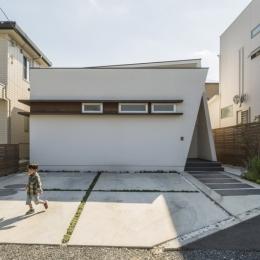 中庭のある平屋の家 (外観1)