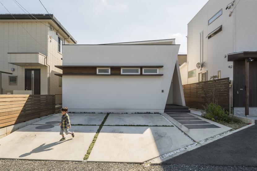中庭のある平屋の家