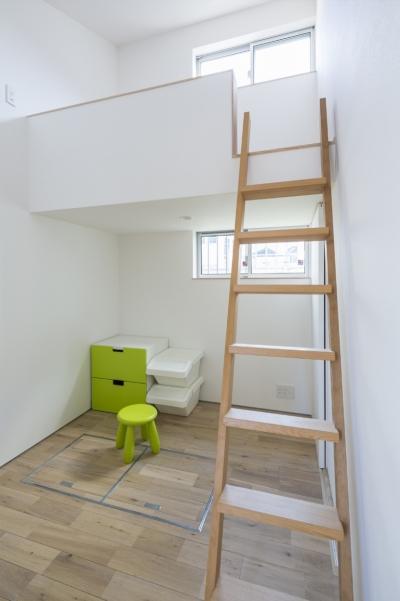 子供室 (中庭のある平屋の家)