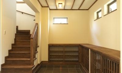 和楽3層住宅 (玄関ドアを開けた時の光景)