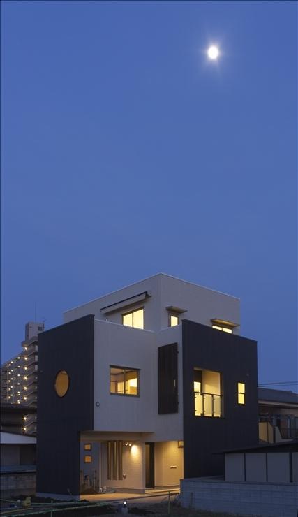和楽3層住宅の部屋 夜景
