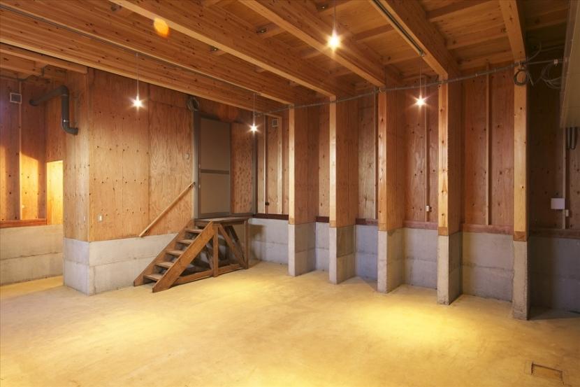 木造軸組み大スパンの家の部屋 1階のオーナー様の部屋