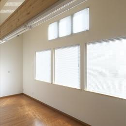 木造軸組み大スパンの家 (2階洋室)