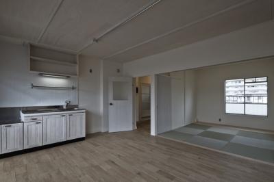 リビングダイニングキッチン (しんかな団地リペア くりの家|いい団地だからなおして暮らす。古きよき団地をめでるリノベーション。)