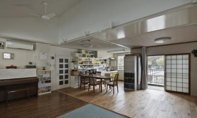 吹田山田のテラスハウス リノベーション|お孫さんが走り回る30畳のリビングを実現