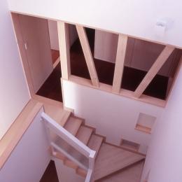 大階段のある二世帯住宅