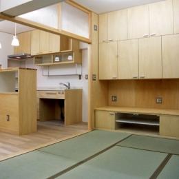 大阪の畳間のあるマンション リノベーション (リビングダイニングキッチン)