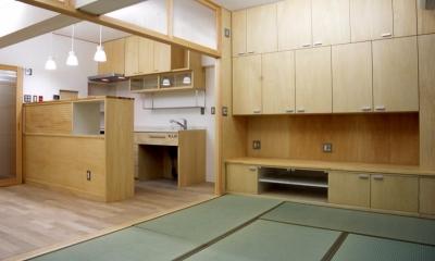 大阪の畳間のあるマンションリノベーション|昭和40年代築のマンションを明るく、ふんだんに木を使ったインテリアにリノベーション