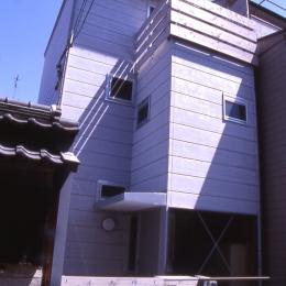 大阪のミニクーパーな家|ミニクーパーのように小さくて高性能でスタイリッシュな家 (外観)