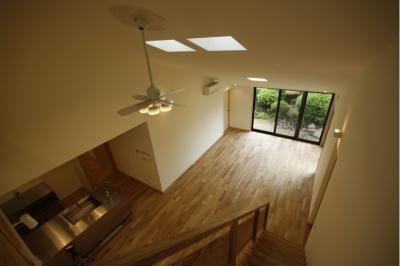 北摂のひろい家|伝統的な座敷と二世帯に対応する新しい住まい (リビングダイニングキッチン)