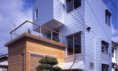 高槻のスキップフロアハウス|スキップフロアで狭い敷地を有効に使いたおす
