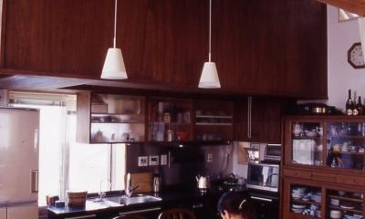 高槻のスキップフロアハウス|スキップフロアで狭い敷地を有効に使いたおす (ダイニングキッチン)