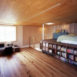 高槻のスキップフロアハウス|スキップフロアで狭い敷地を有効に使いたおす (個室)