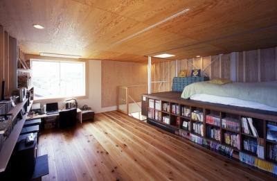 個室 (高槻のスキップフロアハウス|スキップフロアで狭い敷地を有効に使いたおす)