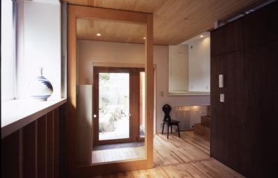 玄関 (高槻のスキップフロアハウス|スキップフロアで狭い敷地を有効に使いたおす)