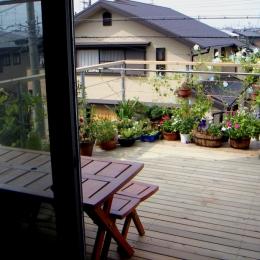 高槻のスキップフロアハウス|スキップフロアで狭い敷地を有効に使いたおす (ルーフテラス)