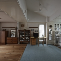 吹田山田のテラスハウス リノベーション|お孫さんが走り回る30畳のリビングを実現 (リビング)