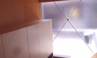 玄関|大阪のミニクーパーな家|ミニクーパーのように小さくて高性能でスタイリッシュな家