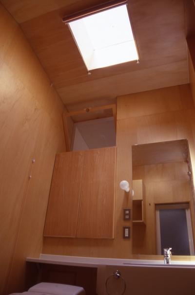 洗面室 (大阪のミニクーパーな家|ミニクーパーのように小さくて高性能でスタイリッシュな家)