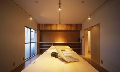 オフィススペース|長岡京の団地SOHO|昭和40年代の団地をSOHOにリノベーション
