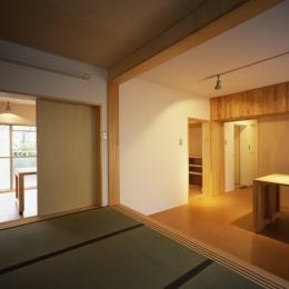 長岡京の団地SOHO (リビングダイニングキッチン)