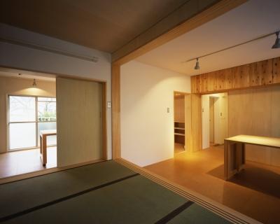 長岡京の団地SOHO|昭和40年代の団地をSOHOにリノベーション (寝室・ダイニングキッチン)