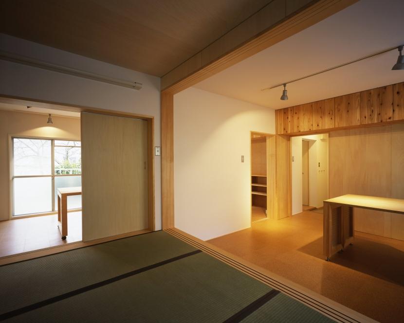 長岡京の団地SOHOの部屋 リビングダイニングキッチン