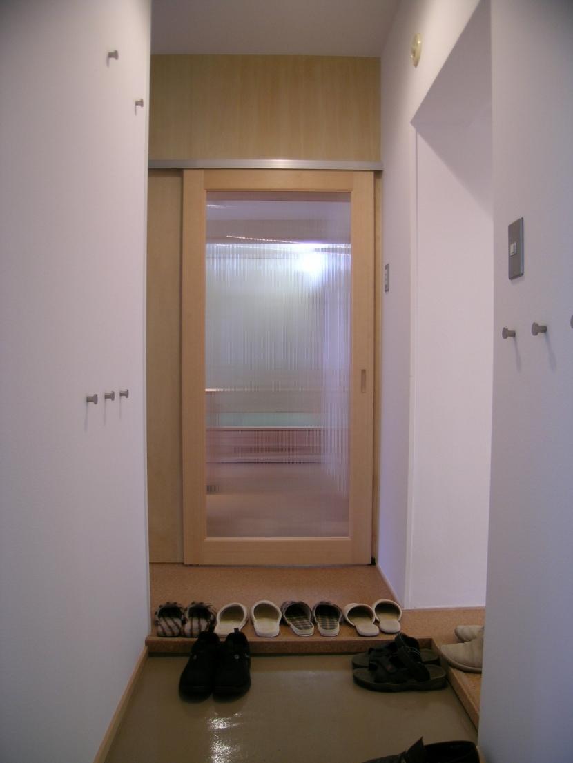長岡京の団地SOHOの部屋 玄関