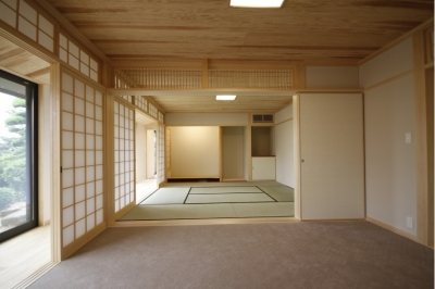 座敷 (北摂のひろい家|伝統的な座敷と二世帯に対応する新しい住まい)