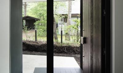 018軽井沢Cさんの家 (玄関)