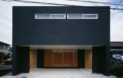 相模原の家~中庭型二世帯住宅 (外観)