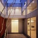 相模原の家~中庭型二世帯住宅の写真 中庭