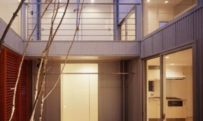 相模原の家~中庭型二世帯住宅 (中庭)
