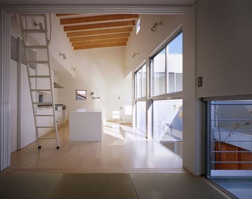 相模原の家~中庭型二世帯住宅の部屋 子世帯LDK1