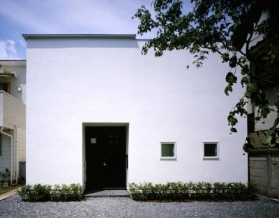 国立の家~中庭+ルーフガーデンの家 (外観)