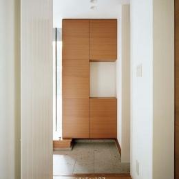 015軽井沢Tさんの家 (玄関)