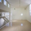 下石神井の家Ⅱ~吹抜け+スキップフロアの家の写真 リビング2