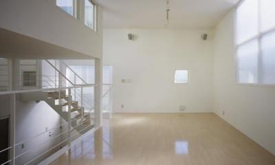 下石神井の家Ⅱ~吹抜け+スキップフロアの家 (リビング2)